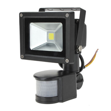 10W White 800LM PIR Motion Sensor Security LED Flood Light 85-265V