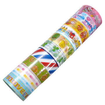 10Pcs DIY Cartoon Decoration Tapes Cute Multicolor Lace Flower Fabric Stickers Label Shool Offical Printing