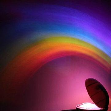 크리 에이 티브 레인보우 낭만적 인 스타 LED가 투영 램프 야간 조명