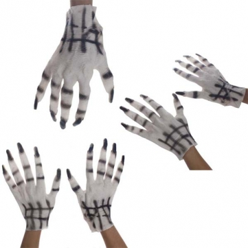 Halloween White Female Ghost Latex Gloves