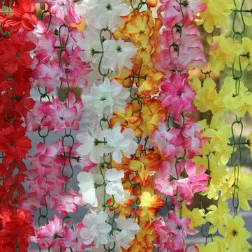 2m di seta artificiale piante fiori di azalea di vite matrimonio ghirlanda decorazioni per la casa