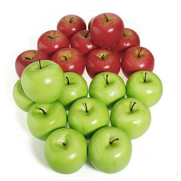 인공 사과 홈 파티 장식 가짜 붉은 녹색 사과 과일 야채