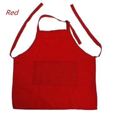 Cute Kids Children Kitchen Painting With Pocket Polyester Adjustable Aprons