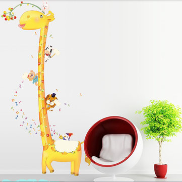 Removable Giraffe Height Wall Sticker Kids Room Decor Decal