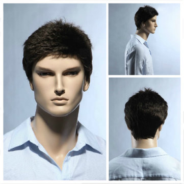 Stylish Brown Short Hair Wigs For Man