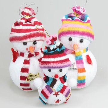 Colorful Snowman Doll Christmas Tree Decoration Ornaments