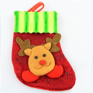 Christmas Stocking Hanging Indoor Family Festival Ornaments Elk