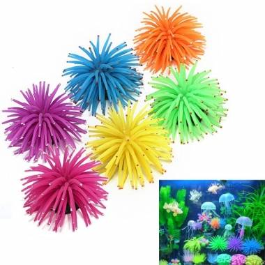 Silicone Aquarium Fish Tank Decor Artificial Coral Plant