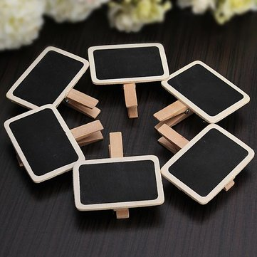 Mini Blackboard Chalkboard Message Board Holder Clip