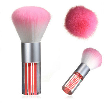 Acrylic Handle Pink Makeup Cosmetic Powder Blush Brush