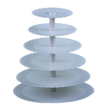 Plastic 6 Tiers Cake Stand Detachable Cup Cake Shelf Party Use