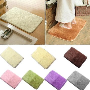 40x60cm Chenille Solid Color Absorbent Non-slid Mat