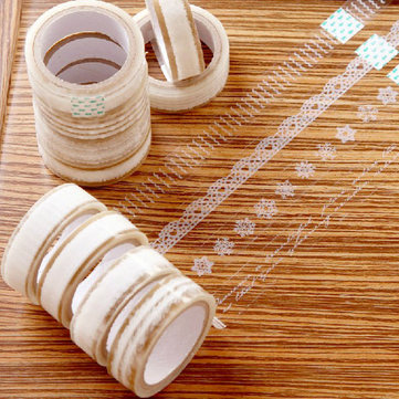 Transparent Lace Tape Floral Decorative Lace Tape Clear Lace Tape
