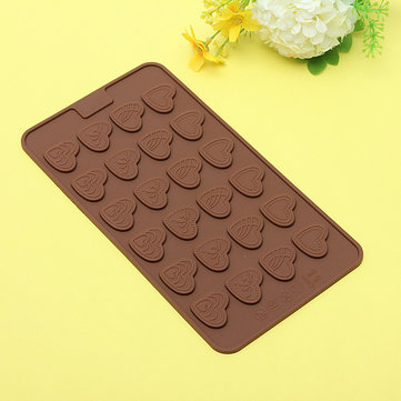 Heart Shaped Silicone Cake Mould Chocolate Fondant Cookies Baking Mold