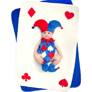 Baby Poker King Photography Props Clothes Set Theme Blanket Rug Carpet