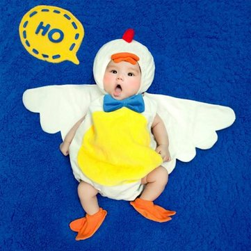 Duck Baby Handmade Plush Costume Photography Prop Clothes