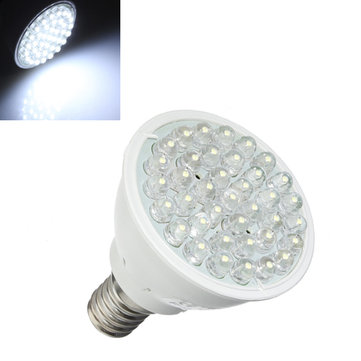 E14 1.5W Pure White 38 LED Energy Saving Spotlightt Lamp Bulb 110-240V