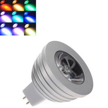 MR16 3W RGB LED Light Bulb With Remote Control 16 colors 12V