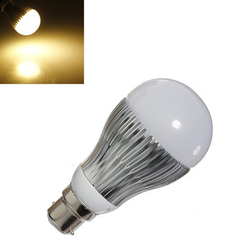 B22 5W 500LM Warm White LED Globe Ball Light Bulb Lamp AC 85-265V