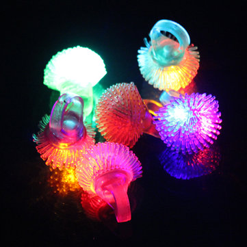 LED Color Change Flashing Jelly Soft Ring Wedding Halloween Party