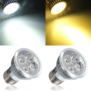 E27 4W White/Warm White 4 LED Spotlightt Bulb LED Lamp Light AC85-265V