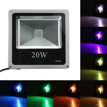 LED Flood Light Outdoor 20W RGB IP65 Wash Light Garden Lamp
