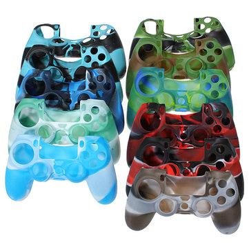 Camouflage Silicone Protective Case Cover For PS4 Controller