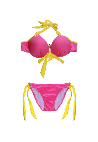 Women Sexy Steel Supporting Cup Halter Swimwear Bikini