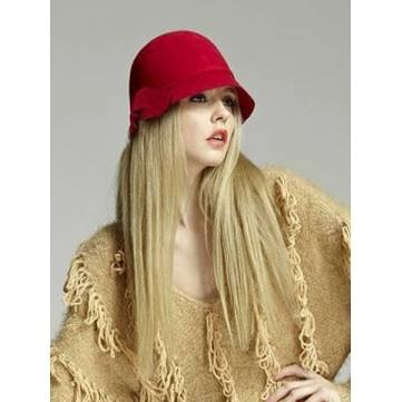 Decorative Bow Wool Equestrian Hat Wool Hat Drooping