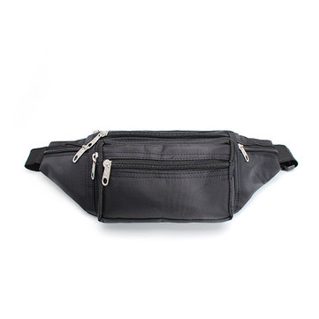 Zipper Black Waist Bum Bag Fanny Pack Travel Pocket