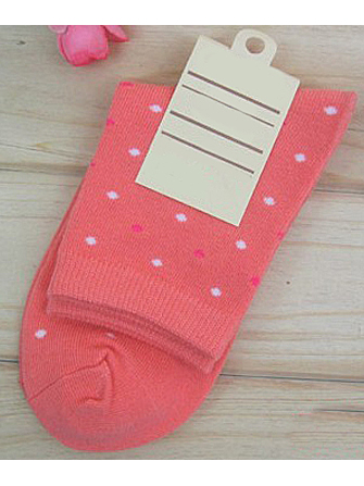 Women's Candy Color Knitted Cotton Dot Socks Autumn And Winter