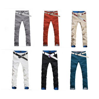 Men's Fashion Korean Casual Straight Slim Pants Trousers