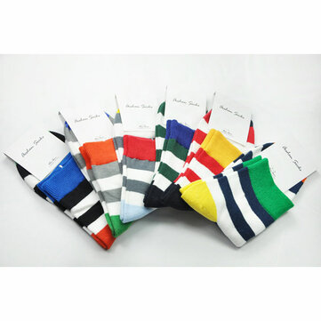 A.E.SHON Mens Stripe Socks Colours Cotton Socks
