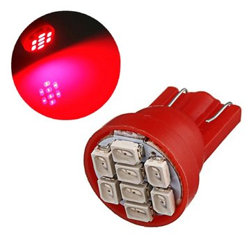T10 8-SMD Red LED Car Light Wedge Bulb Ultra Super Bright