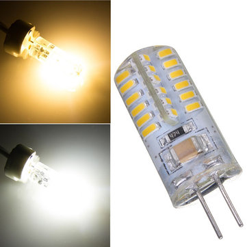 G4 2.6W Warm White/Pure White 48 SMD 3014 LED Light Bulb Lamp 220V