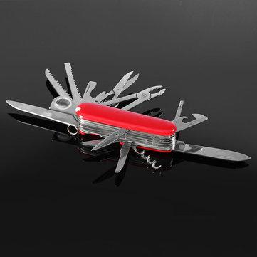 Rouge 91mm suisse pliage multifonctionnel outils couteaux de survie