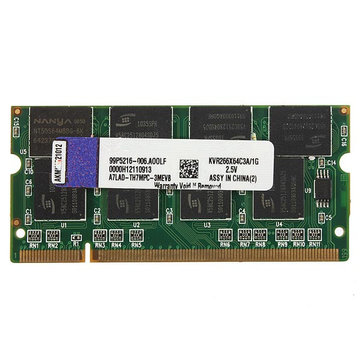 1GB DDR-266 PC2100 Non-ECC SODIMM Memory RAM KIT 200-Pin for Laptop