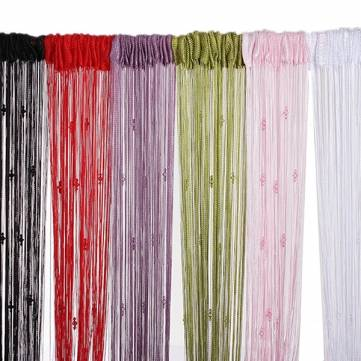 Tassel String Curtain Fly Screen Divider Room 3 Beads Decoration