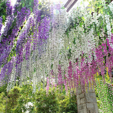 Silk wisteria flowers vine home garden decor artificial plant silk wisteria flowers vine home garden decor artificial plant garland mightylinksfo