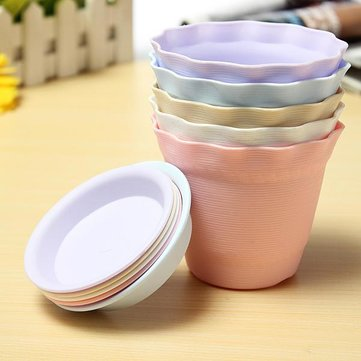 Resin Plastic Gardening Indoor Flower Pots With Pallet Plant Pot