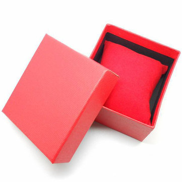 Red Blue Black Square Cardboard Paper Jewelry Wrist Watch Box
