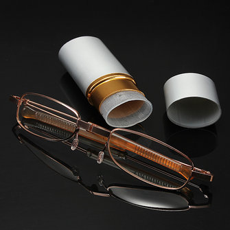 White Aluminum Shell Pen Container Reading Glasses