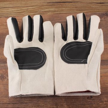 White Canvas Leather Labor Gloves Wear Resistant Protective Gloves