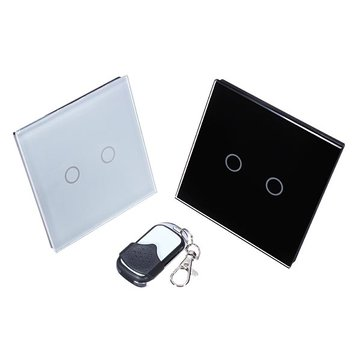 FUNRY 2G1W Touch Switches Wireless Remote Control Light Switch