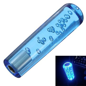 150mm Car Manual Bubble Shift Lever Knob Blue LED Light