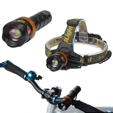 XML T6 LED Zoom Headlamp Flashlight Torch Bike Bicycle