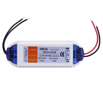 12V 72W LED Power Supply Driver Transformer Adapter AC 90-240V