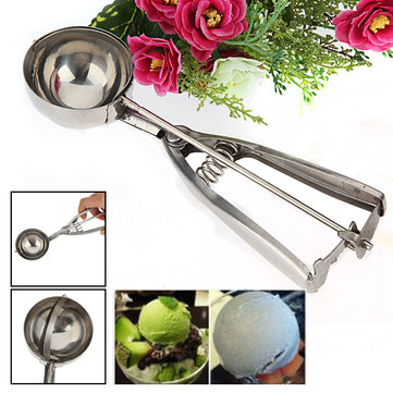 6cm Stainless Steel Ice Cream Scoop Mash Potato Food Spoon