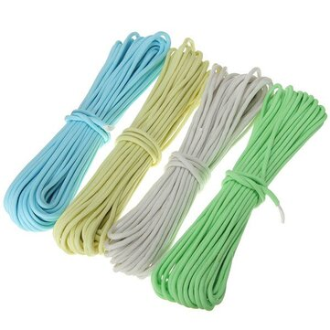 10ft 3m Luminous Glow Nylon Paracord Parachute Cord Rope Multifunction For Outdooors