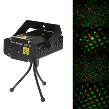 Mini R&G Laser Light Lighting Projector Disco Stage Light 110-240V